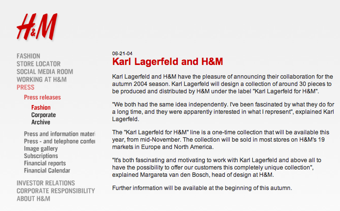 Fashion Blog Fashion Heads Up Karl Lagerfeld For Macy S