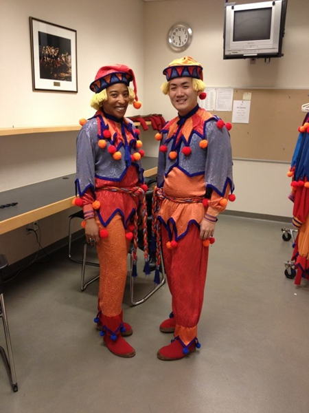 I played a Cannon Doll in The National Ballet of Canada's The Nutcracker