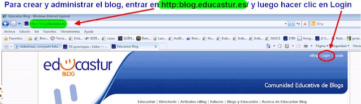entrar a gestionar blog