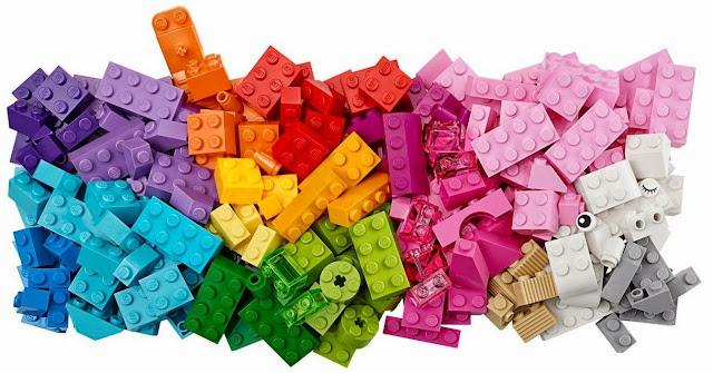 Lego 10694 Hộp sáng tạo bổ sung màu sáng với 20 màu sắc tươi sáng khác nhau