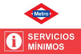 Servicios mínimos de Metro