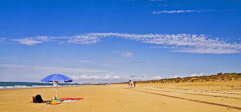 Playa de Los Enebrales de Punta Umbría. Julio de 2013