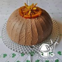 zuccotto pomarańczowe w zimowej wersji