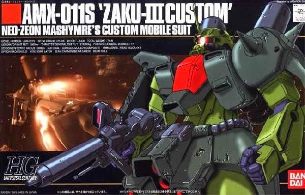 Đồ chơi Lắp ghép AMX-011S Zaku-III Custom HGUC tỷ lệ 1/144 dành cho trẻ trên 8 tuổi