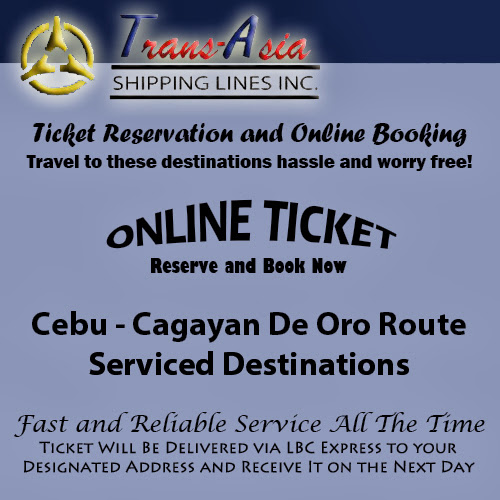 Trans-Asia Shipping Cebu-Cagayan De Oro Route Ticket Reservation and Online Booking