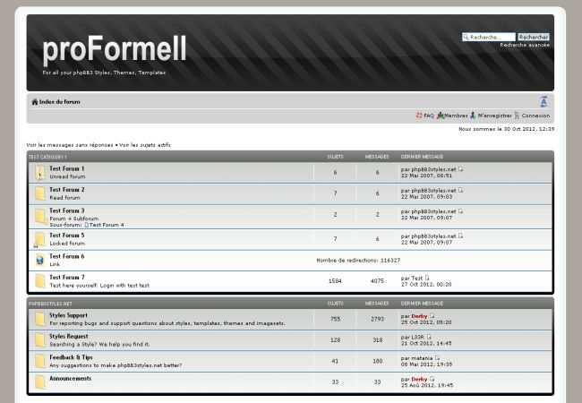 Metal Silver Black Phpbb Style Template