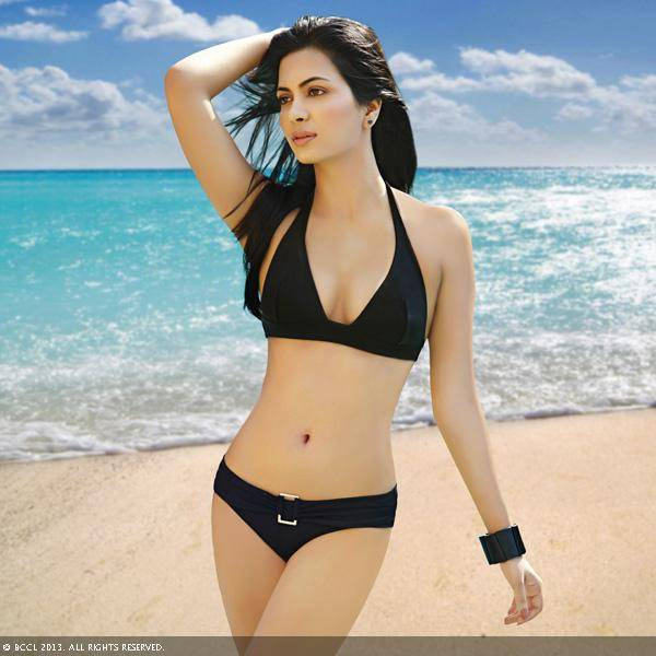 Femina Miss India International 2011 Ankita Shorey looks ravishing in a black bikini while she poses for the month of April.