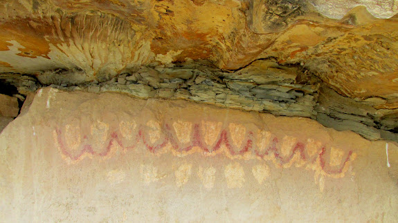 Pictographs and funky erosion above