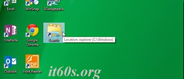 Thủ thuật tạo biểu tượng tìm kiếm ngay trên Desktop 4