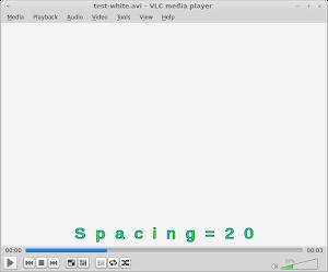 Spacing 修改字幕的字符的空間,以像素定義
