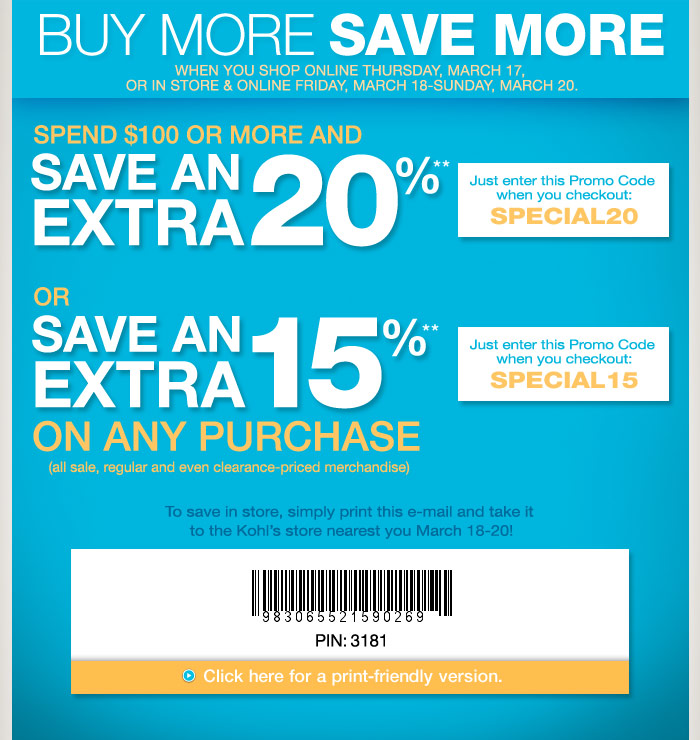 printable coupons 2011. KOHLS PRINTABLE COUPONS 2011