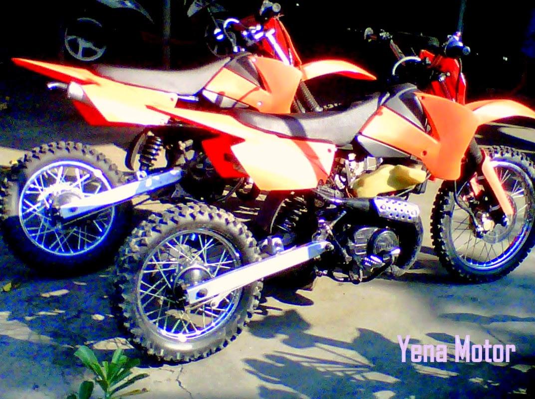 Modifikasi Suzuki Shogun Menjadi Motor Trail