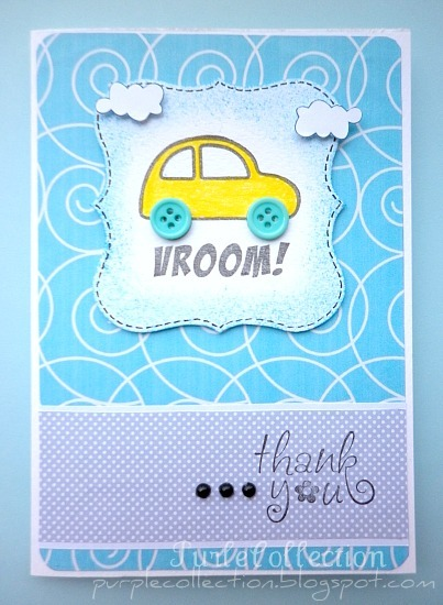Car birthday card, birthday card
