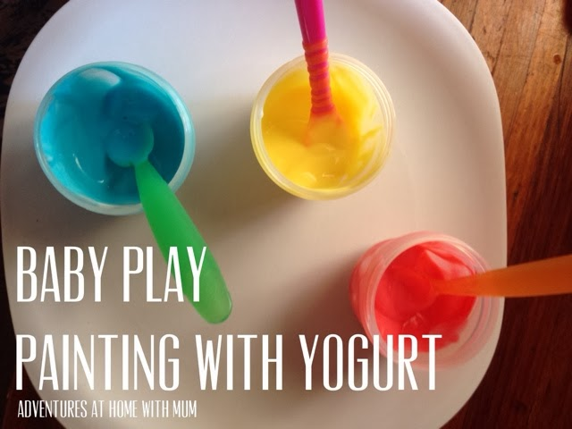 Baby Safe yummy Painting With Yogurt