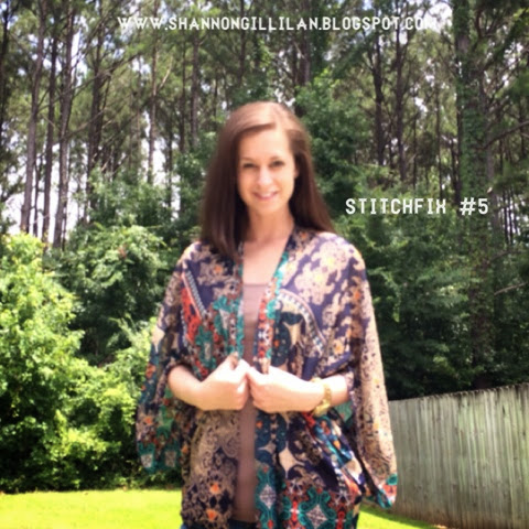 Stitch Fix Renee C Jennifer Graphic Print Kimono Cardigan www.shannongillilan.blogspot.com