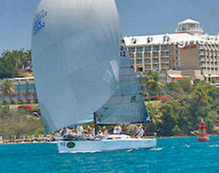 J/122 Lazy Dog sailing St Thomas Rolex Regatta