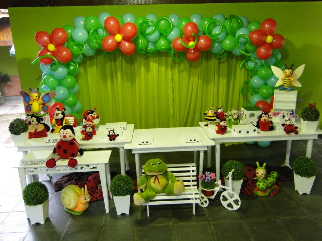 decoracao de festa infantil jardim das joaninhas:Victoria Decoração Infantil : Joaninha – Mesa Provençal
