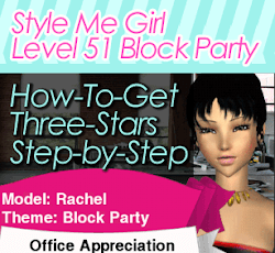 Style Me Girl Level 51 - Block Party - Rachel - Stunning! Three Stars
