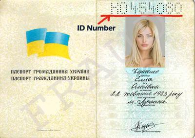 Überprüfung des ukrainischen Passes