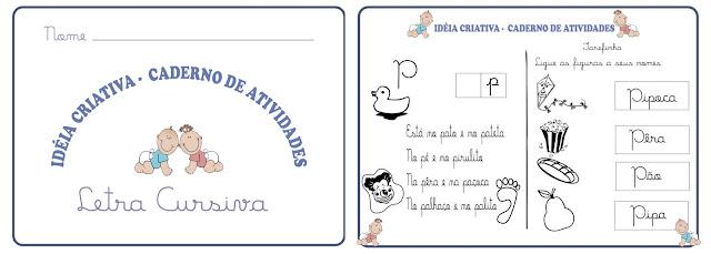 Caderno de Atividades Letra Cursiva
