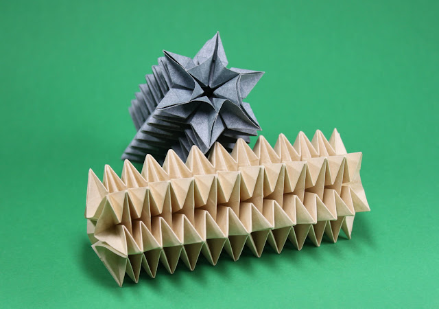 Mostly Folding: Creating my own lampshades based on the origami ... | 450x640