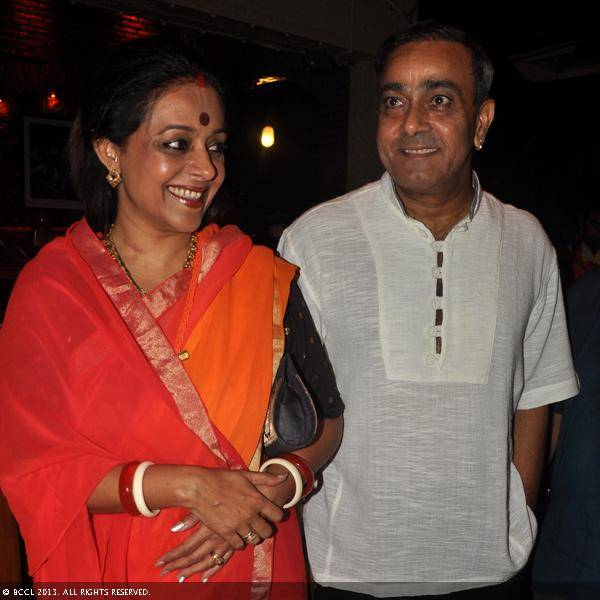 Sanjay and Amita Singh during Vani Tripathi's birthday bash, held in Delhi.