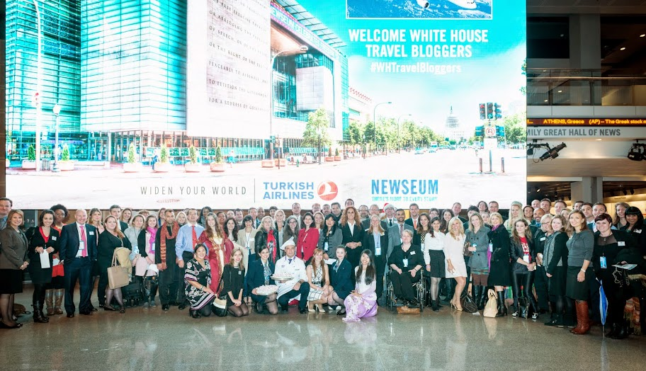 White House Travel Bloggers at the Newseum. #WHTravelBloggers #StudyAbroadBecause