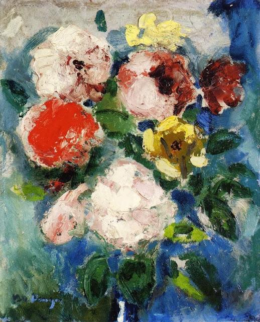 Kees Van Dongen - A Boquet of Roses