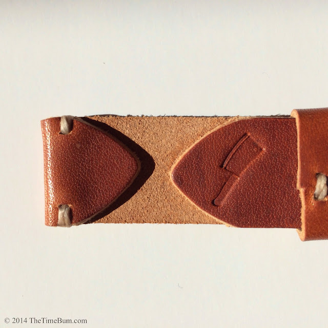 Choice Cuts Horween Dublin Leather minimal stitch watch strap