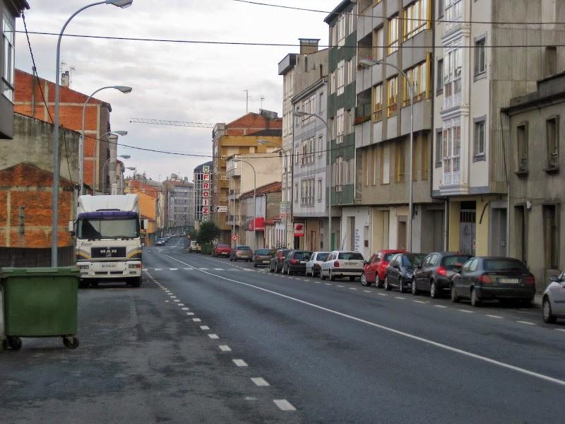 nicht der schönste Ort auf dem Camino: Arzúa