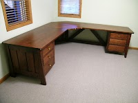 Walnut Corner Desks