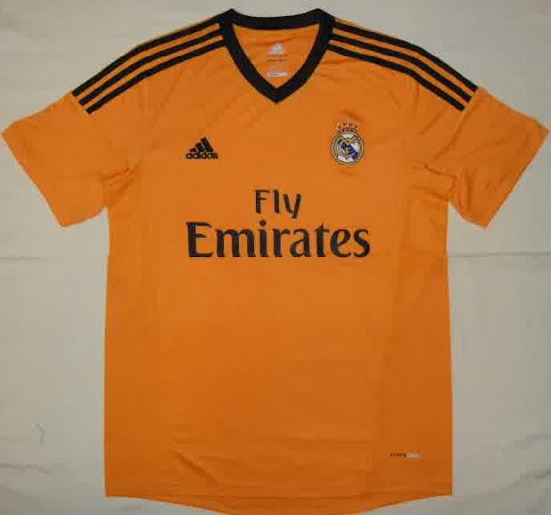 Jual Jersey Real Madrid Liga Champion Warna Orange
