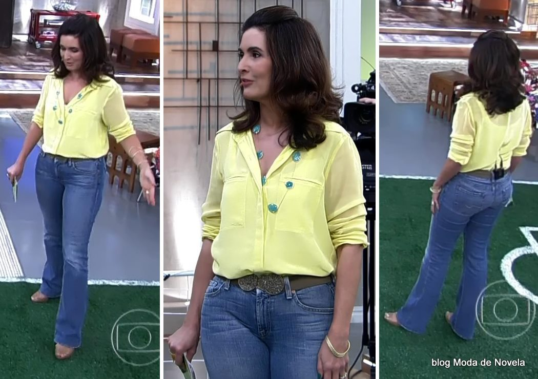 moda do programa Encontro - look da Fátima Bernardes dia 13 de junho