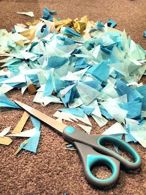 Hanging paper pompom image