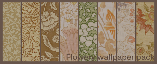 Flowery Wallpaper Texture