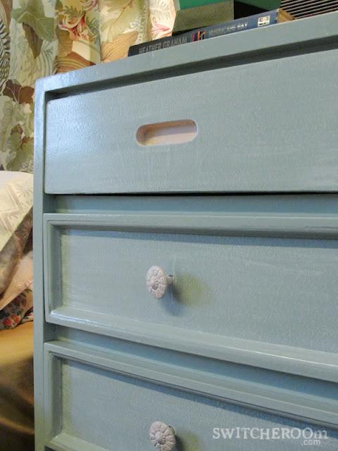 grey dresser, pink dresser, DIY dresser
