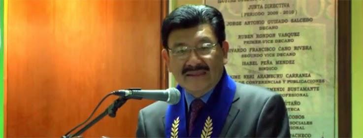 DIRECTOR DEL COLEGIO AMÉRICA JURAMENTA COMO DECANO DEL COLEGIO DE PROFESORES DEL PERÚ DE LA REGIÓN CALLAO