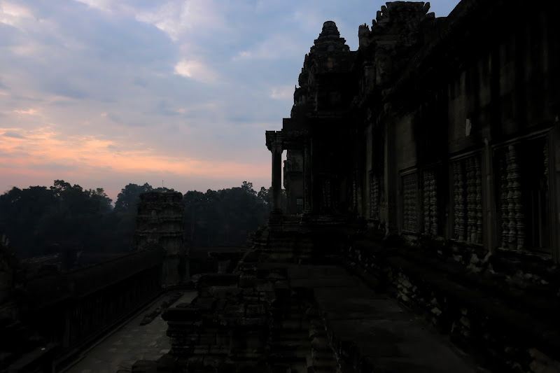 East facade at dawn
