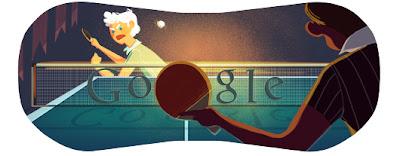 Google Doodle Tischtennis