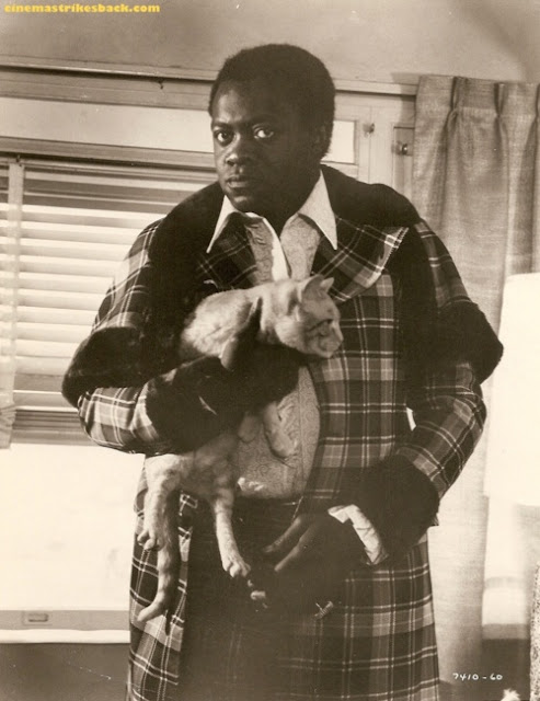 Yaphet Kotto and a cat