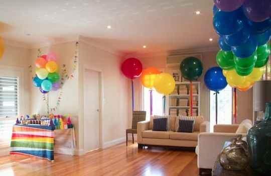 Decoracion sencilla para fiesta de niñas