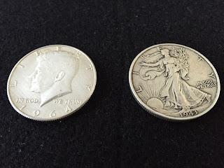 1964年ケネディーコイン/1943年ウォーキングリバティーコイン