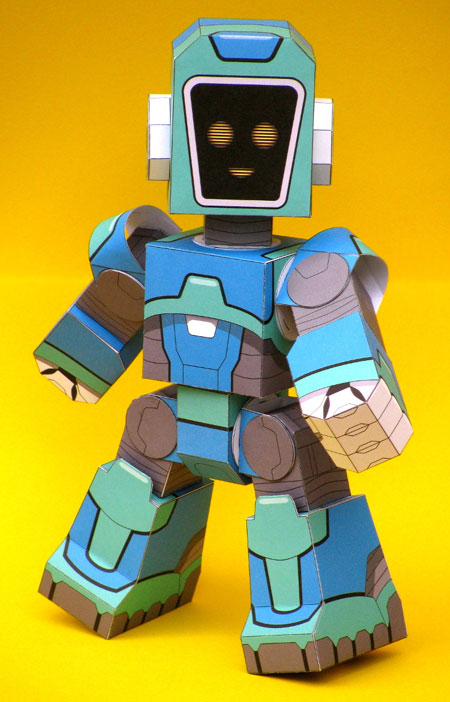 Facebot Paper Toy