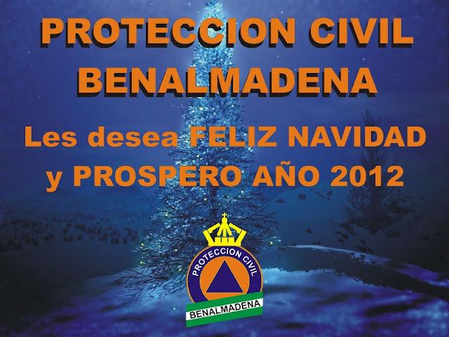 Protección Civil Benalmádena les desea Feliz Navidad y Prospero 2012