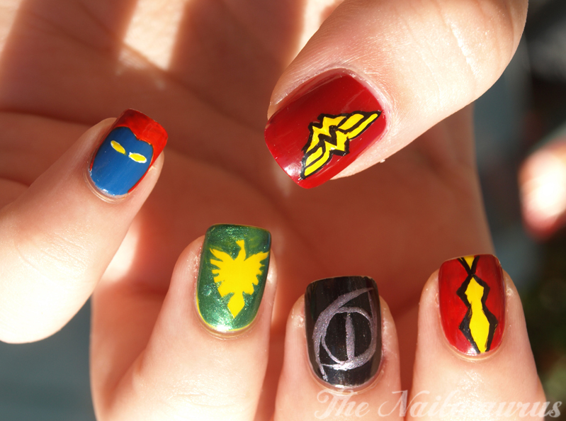 Superheroine Nail Art The Nailasaurus Uk Nail Art Blog