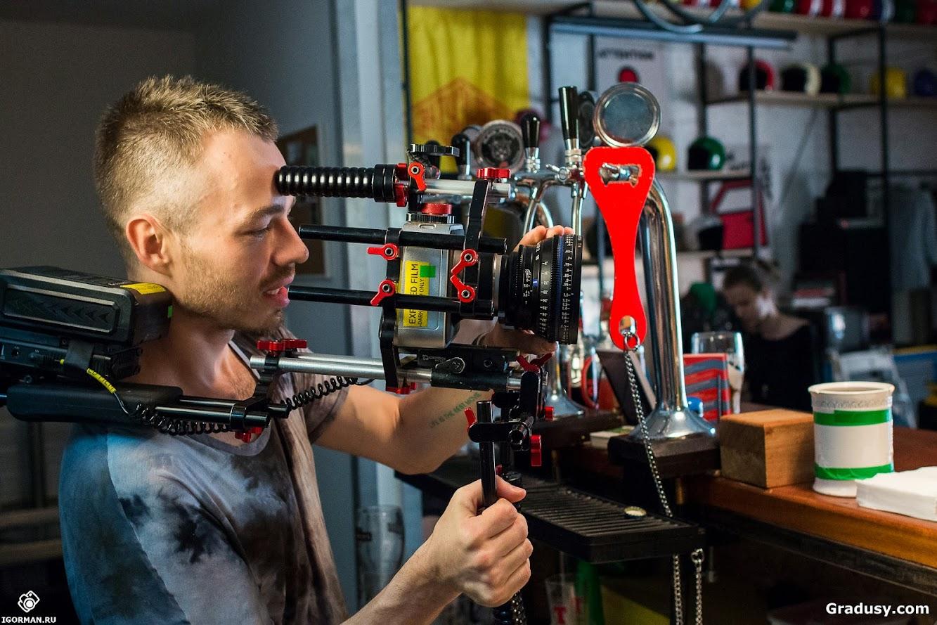 Backstage съемок клипа Грязные стёкла (Градусы)- фотограф IgorMan