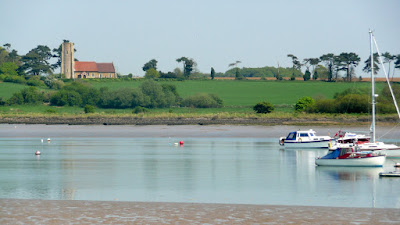 The Deben estuary looking across to Ramsholt church