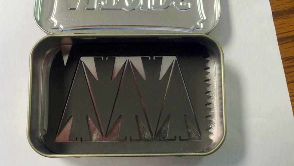 Arrowcard in an Altoids tin