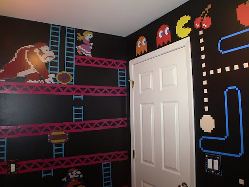 Amazing Mario, Donkey Kong and PacMan Bathroom