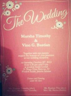Video Foto Pernikahan Vino dan Marsha